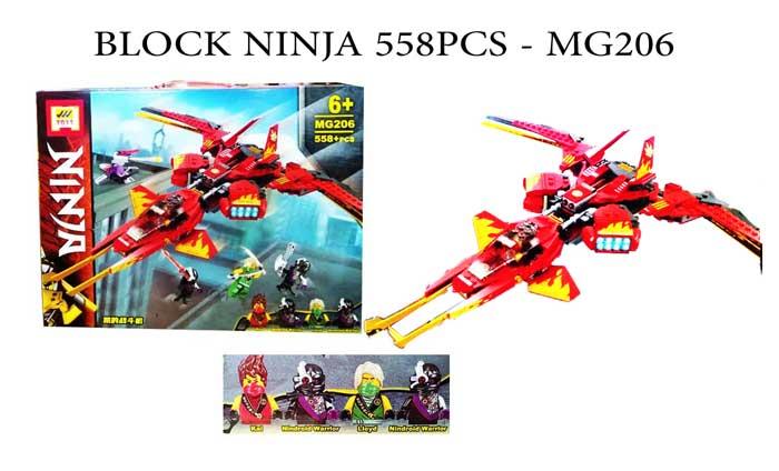 toko mainan online BLOCK NINJA 558PCS - MG206
