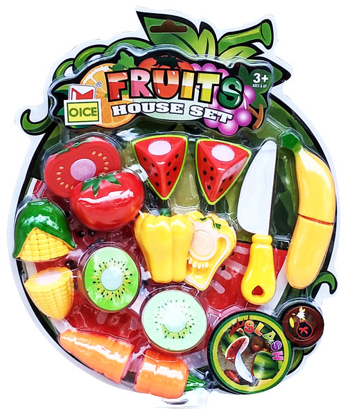 toko mainan online FRUITS HOUSE SET (BUAH POTONG)- 681