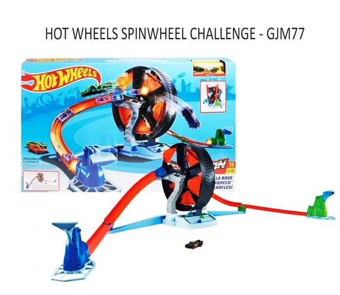 toko mainan online HOT WHEELS SPINWHEEL CHALLENGE - GJM77