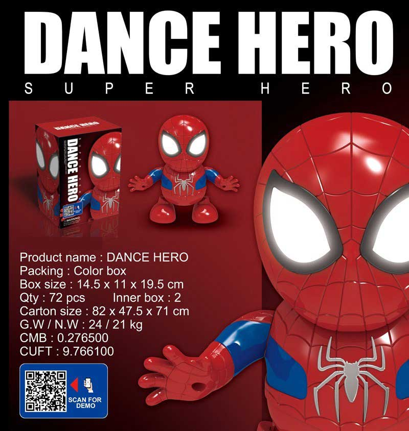 toko mainan online DANCE HERO SPIDERMAN - LD-155D