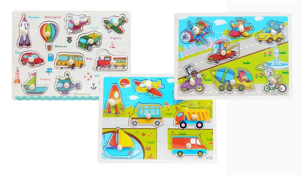 toko mainan online PUZZLE PIN TRANSPORT 7011/3021