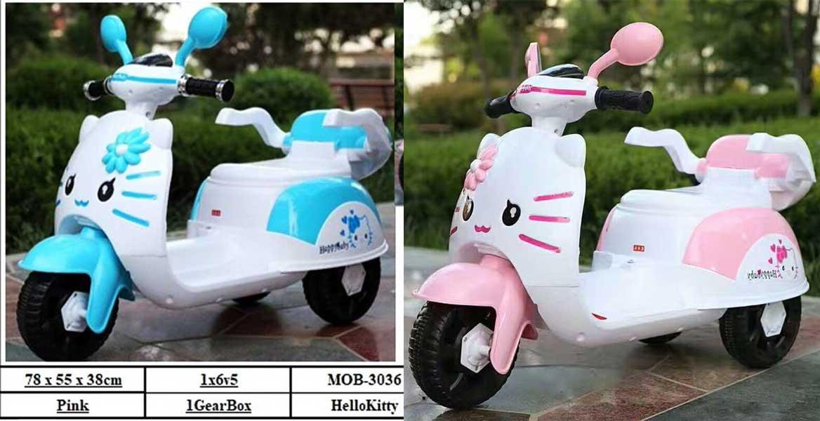 toko mainan online MOTOR AKI HELLO KITTY - MOB-3036