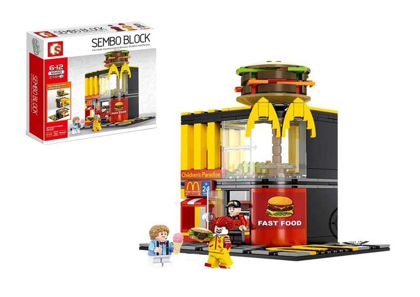 toko mainan online SEMBO BLOCK FAST FOOD 274 PCS - 601021
