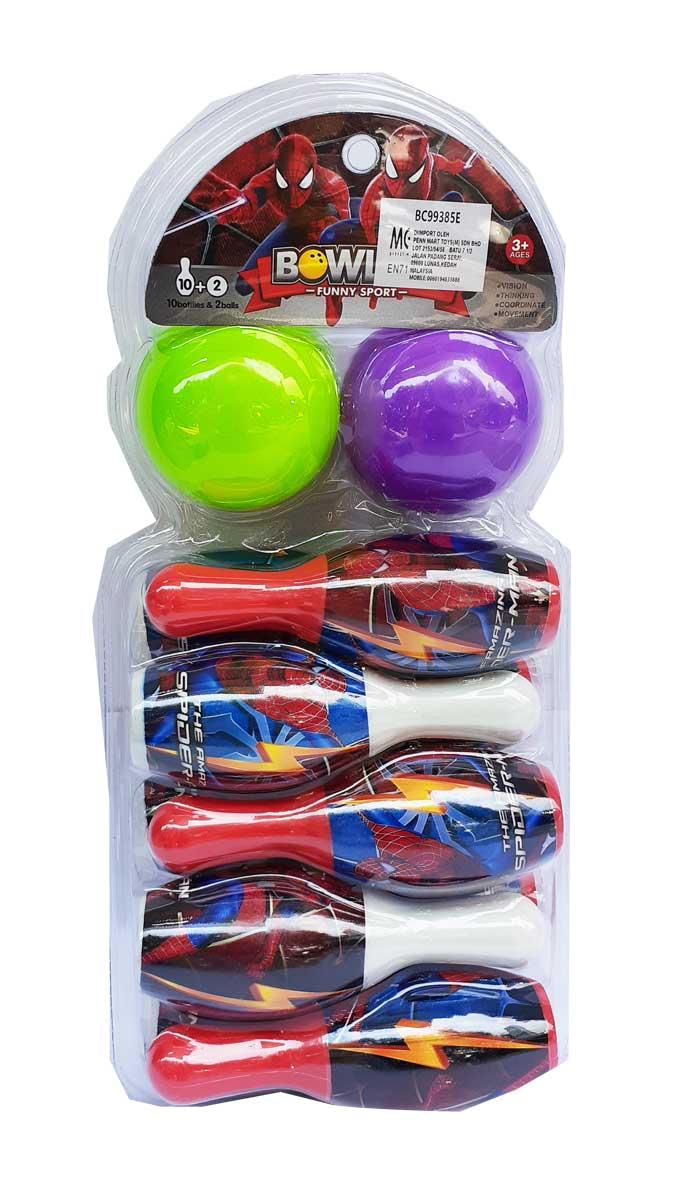 toko mainan online BOWLING SPIDERMAN - 04162