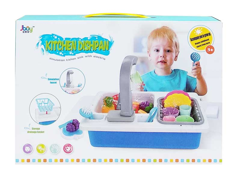 toko mainan online KITCHEN DISHPAN + BUAH - 168A-3A