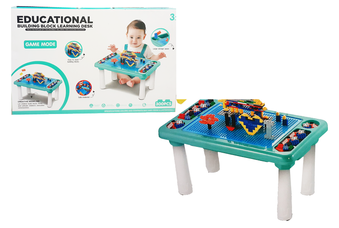 toko mainan online BUILDING BLOCK LEARNING DESK - EDUCATIONAL