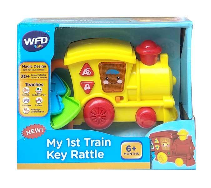 toko mainan online MY 1ST TRAIN KEY RATTLE - NB-03643/0607