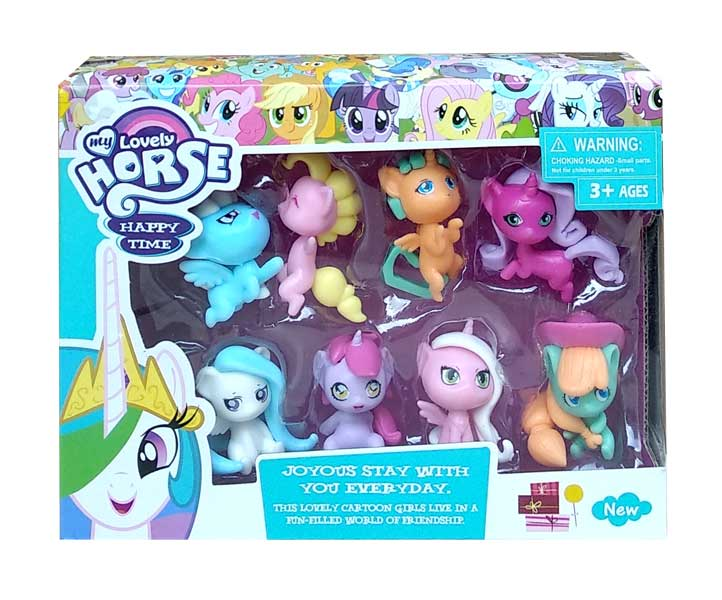 toko mainan online LOVELY HORSE HAPPY TIME 8PCS - 8039D