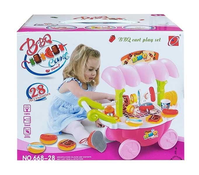 toko mainan online BBQ CART PLAY SET - 668-28