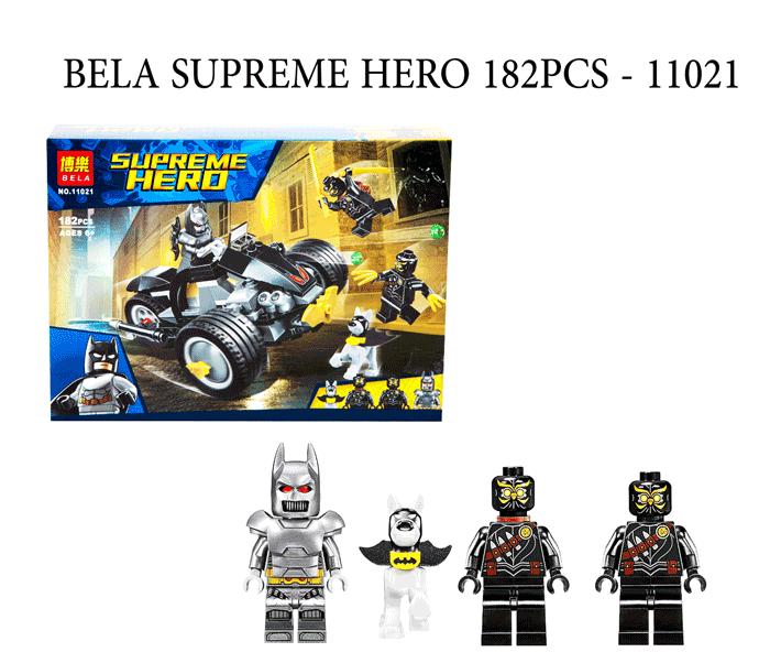 toko mainan online BELA SUPREME HERO 182PCS - 11021