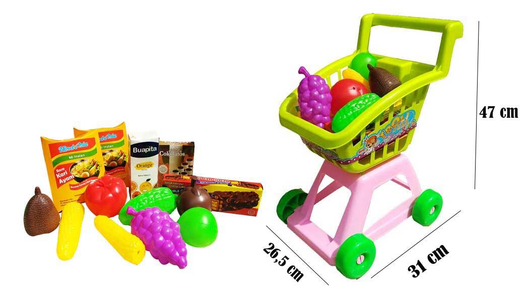 toko mainan online TROLLEY SI CANTIK BUAH - ST1612-B