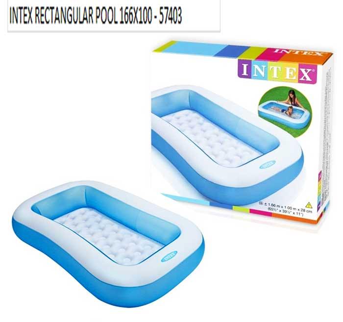 toko mainan online INTEX RECTANGULAR POOL 166X100 - 57403