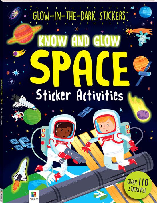 toko mainan online SPACE Glow-in-the-dark Sticker - 35008