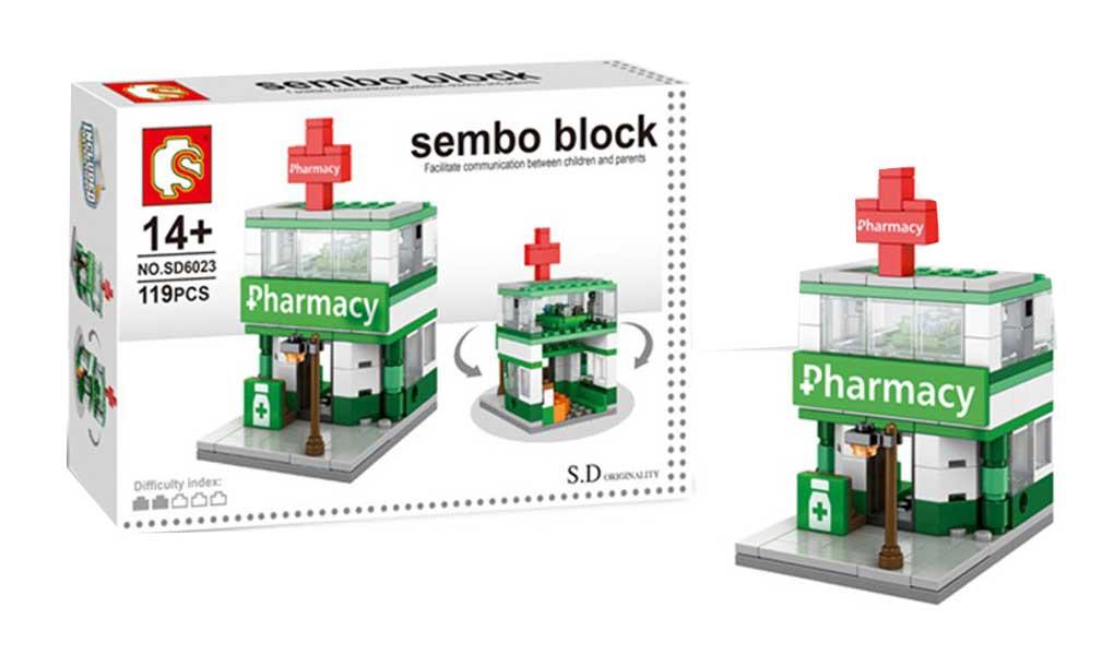 toko mainan online SEMBO PHARMACY 119PCS - SD6023