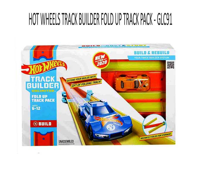 toko mainan online HOT WHEELS TRACK BUILDER FOLD UP TRACK PACK - GLC91