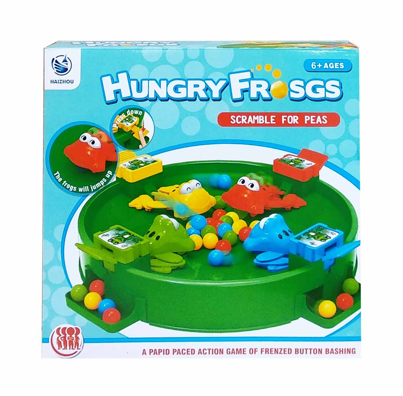 toko mainan online HUNGRY FROGS 4 PLAYERS - HZ-024