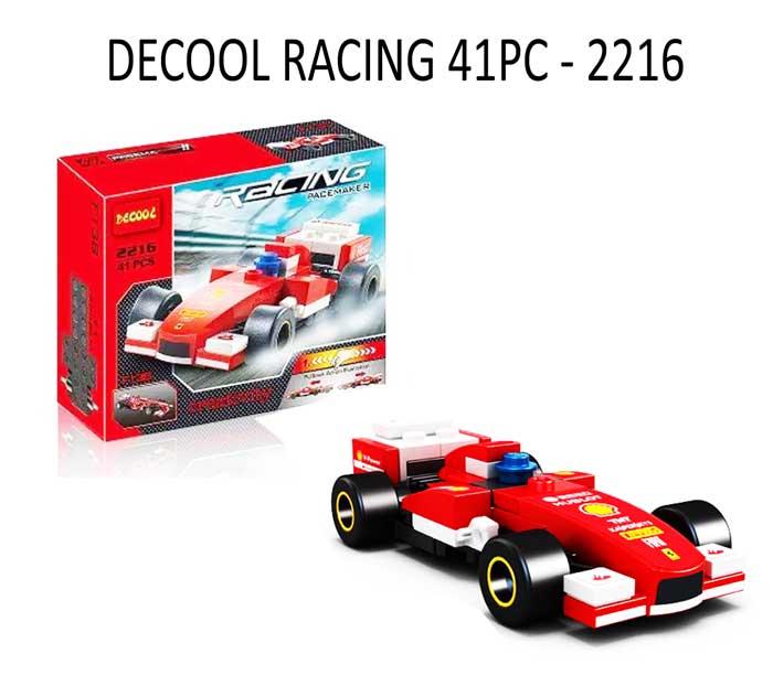 toko mainan online DECOOL RACING 41PC - 2216