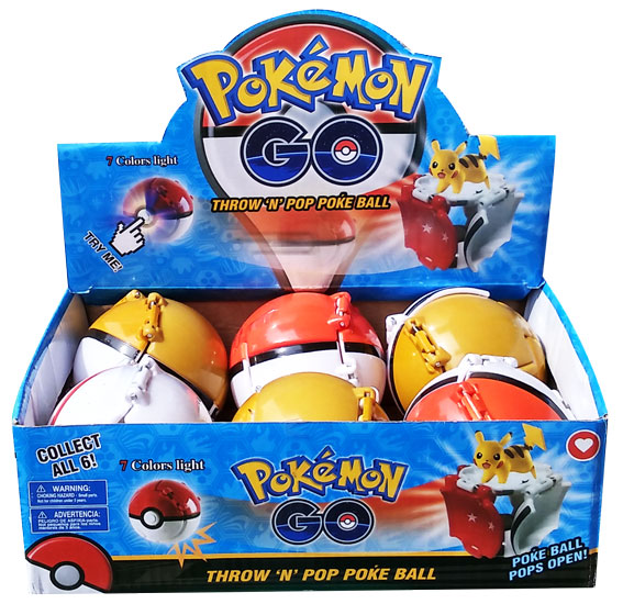 toko mainan online THROW AND POP POKEBALL WITH LIGHT- (gr6)