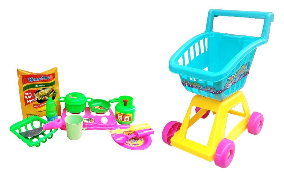 toko mainan online TROLLEY SI CANTIK KOMPOR - ST1612-B-K