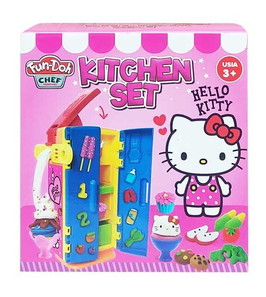 toko mainan online FUNDOH KITCHEN SET KITTY - 28158