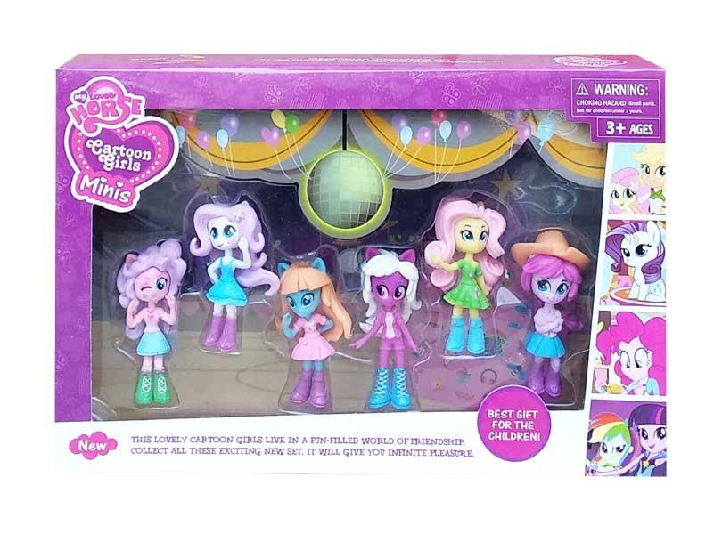 toko mainan online LOVELY HORSE CARTOON GIRLS MINIS - 8029A