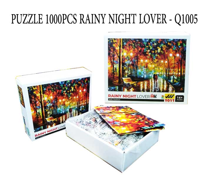 toko mainan online PUZZLE 1000PCS RAINY NIGHT LOVER - Q1005