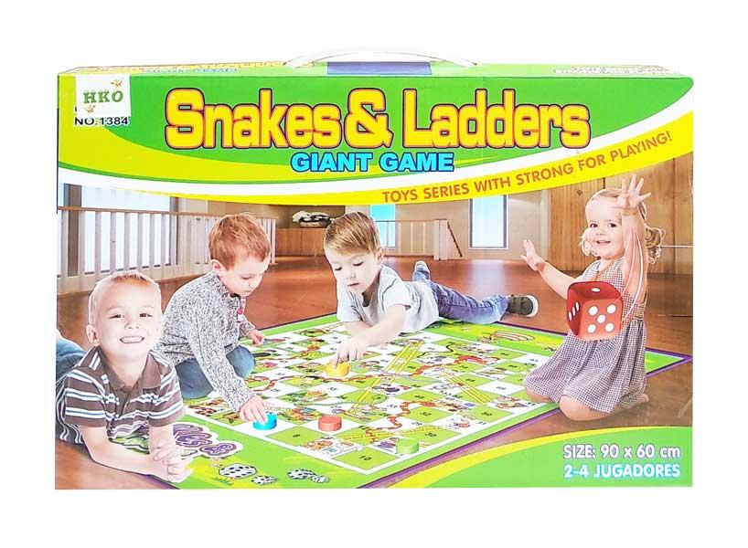 toko mainan online SNAKES & LADDER GIANT GAME - 1384