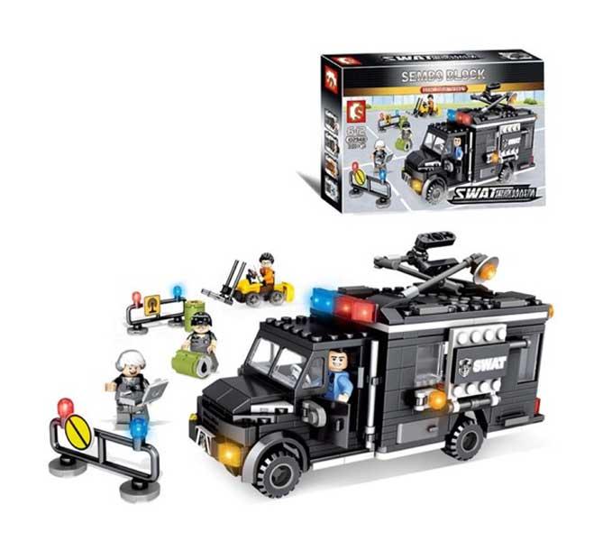 toko mainan online SEMBO BLOCK SWAT 391 PCS - 102348