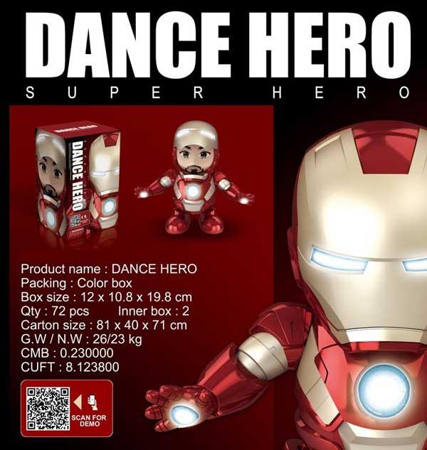 toko mainan online DANCE HERO IRON MAN - LD-155A