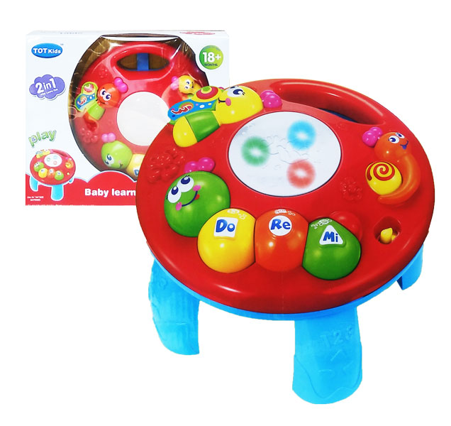 toko mainan online BABY LEARNING TABLE MERAH - 1096