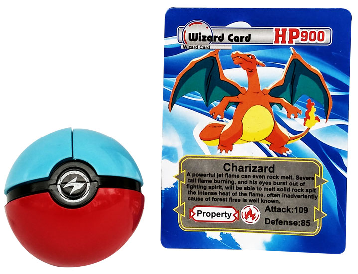 toko mainan online POKEBALL WITH FIGURINE AND WIZARD CARD (gr12)