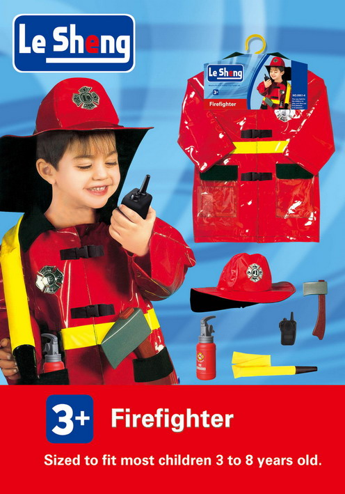 toko mainan online LESHENG FIREFIGHTER COSTUME - 0951-4
