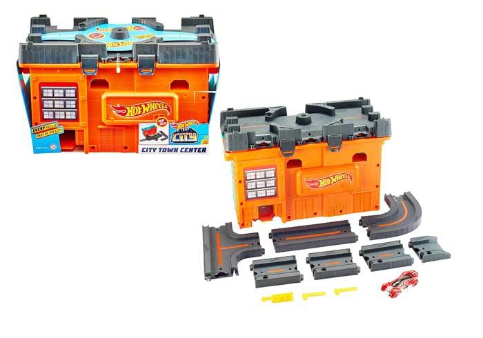 toko mainan online HOT WHEELS TRACK BUILDER CITY TOWN CENTER - GKT86