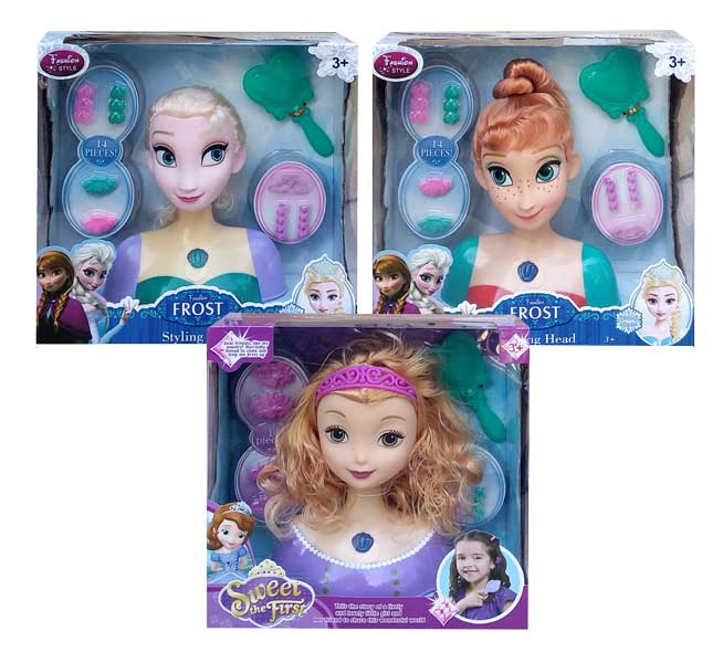 toko mainan online FROST STYLING HEAD ELSA/SOFIA - S38/S57