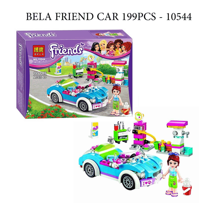 toko mainan online BELA FRIEND CAR 199PCS - 10544
