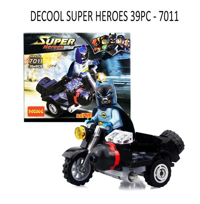 toko mainan online DECOOL SUPER HEROES 39PC - 7011