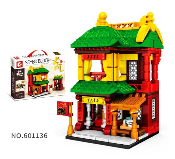 toko mainan online SEMBO BLOCK 354PCS TEA SHOP - 601136