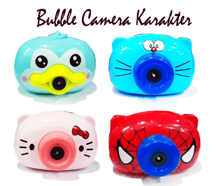 toko mainan online BUBBLE CAMERA KARAKTER - 5833