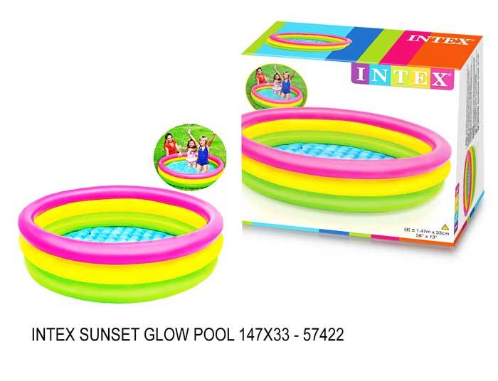 toko mainan online INTEX SUNSET GLOW POOL 147X33 - 57422