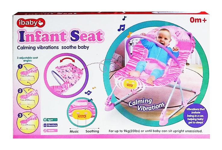 toko mainan online IBABY INFANT SEAT PINK - 68106