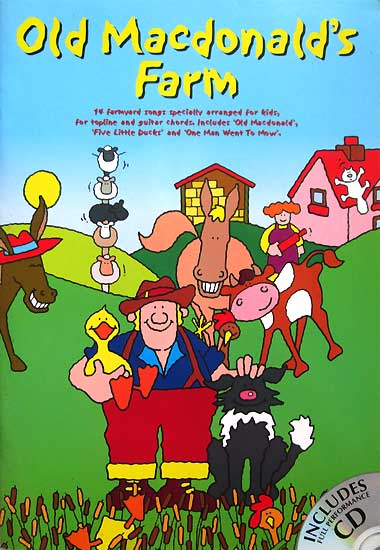 toko mainan online Old Macdonald's Farm - 14 Farmyard Songs specially arranged for kids, for topline and guitar chords (Includes Full Performance Audio CD)