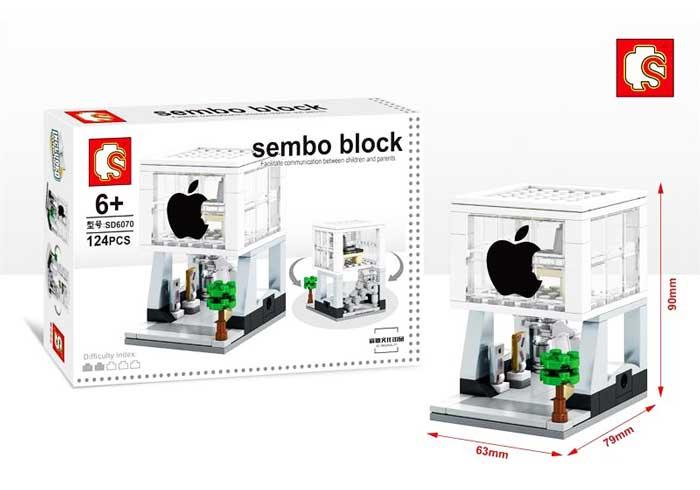 toko mainan online SEMBO APPLE 124PCS - SD6070
