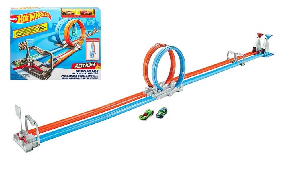 toko mainan online HOT WHEELS DOUBLE LOOP DASH - GFH85