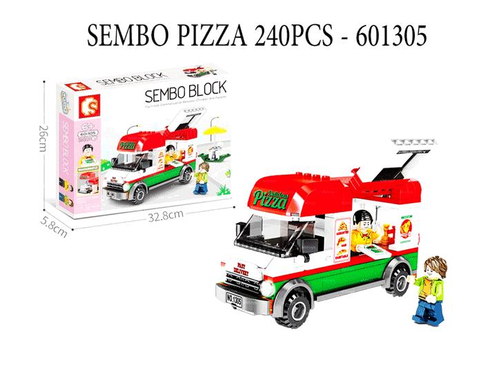 toko mainan online SEMBO PIZZA 240PCS - 601305