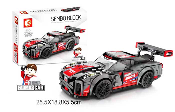toko mainan online SEMBO CAR 198PCS - 607023