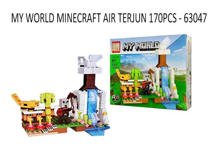 toko mainan online MY WORLD MINECRAFT AIR TERJUN 170PCS - 63044