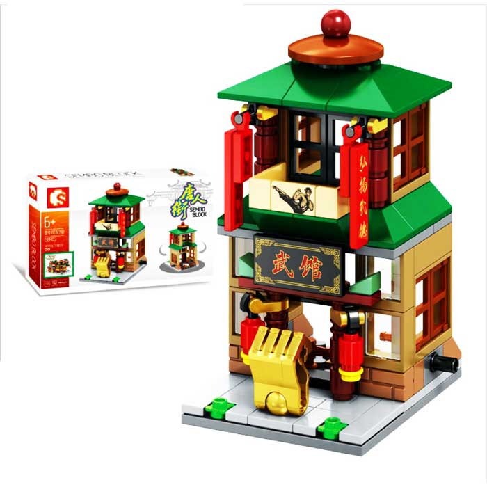 toko mainan online SEMBO CHINA TOWN 132PCS - SD6098