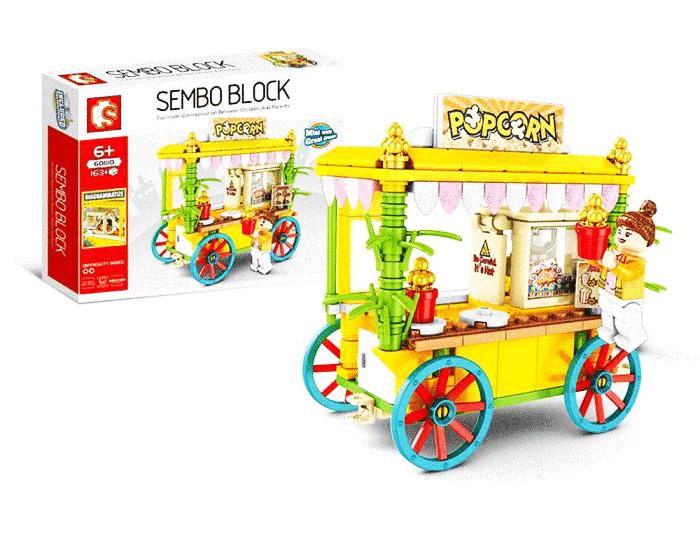 toko mainan online SEMBO STREET STALL 163PCS - 601110