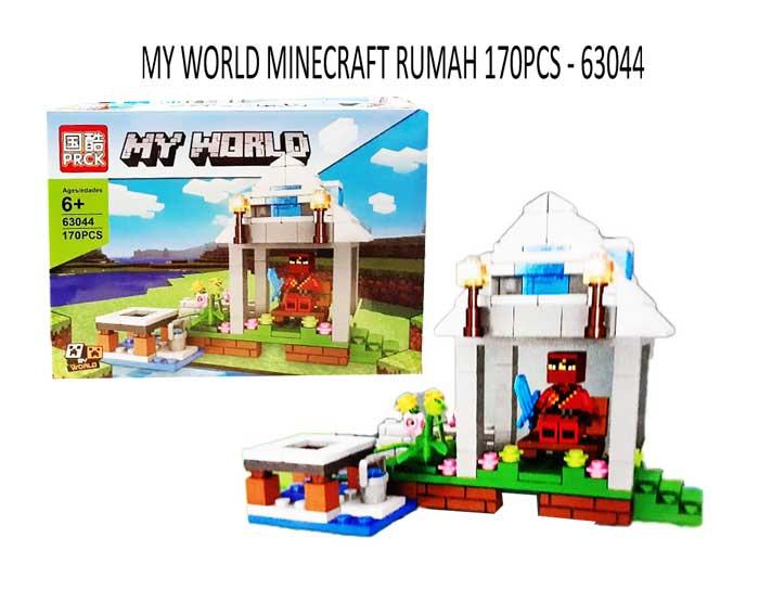 toko mainan online MY WORLD MINECRAFT RUMAH 170PCS - 63044