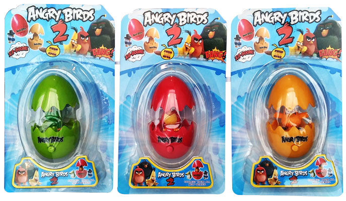 toko mainan online ANGRY BIRD PUSH AND OPEN EGG (1PC)